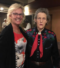 Dr. Grandin and audience member